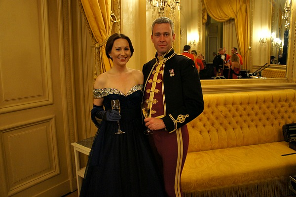 Emma's ball gown at The Waterloo Ball, Brussels