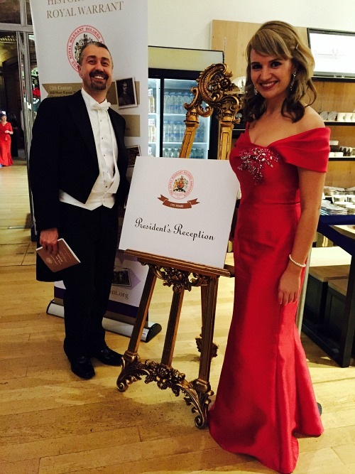 Royal Warrant Holders Dinner: Red Ball Gown, Fishtail Skirt