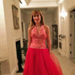 Sandra had fun finding a glam birthday party dress to hire