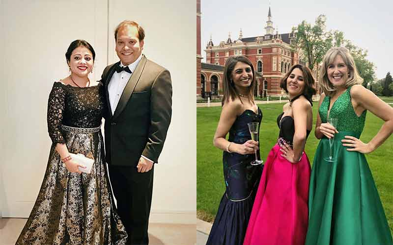 Ball gowns for the Dulwich College 400th Anniversary Ball