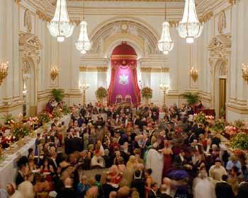 Diplomatic reception ball at Buckingham Palace