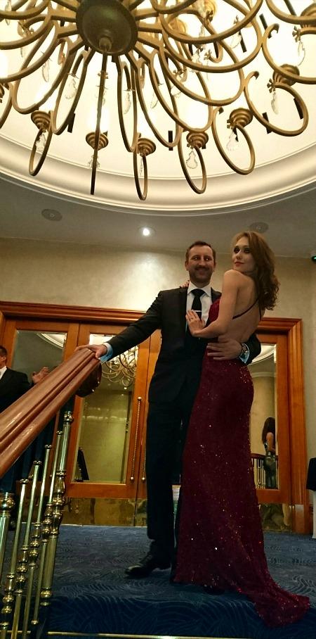 Date Night: Raspberry Cross-Back Allover Sequin Evening Dress